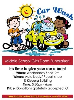 Car Wash Fundraiser Texas School For The Deaf